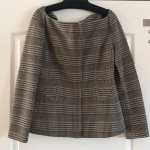 Theory fitted jacket.. plaid ..seen on Meghan !